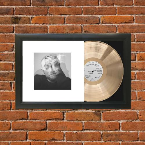 Mac Miller - Cirlces Framed Emerging Gold LP Display