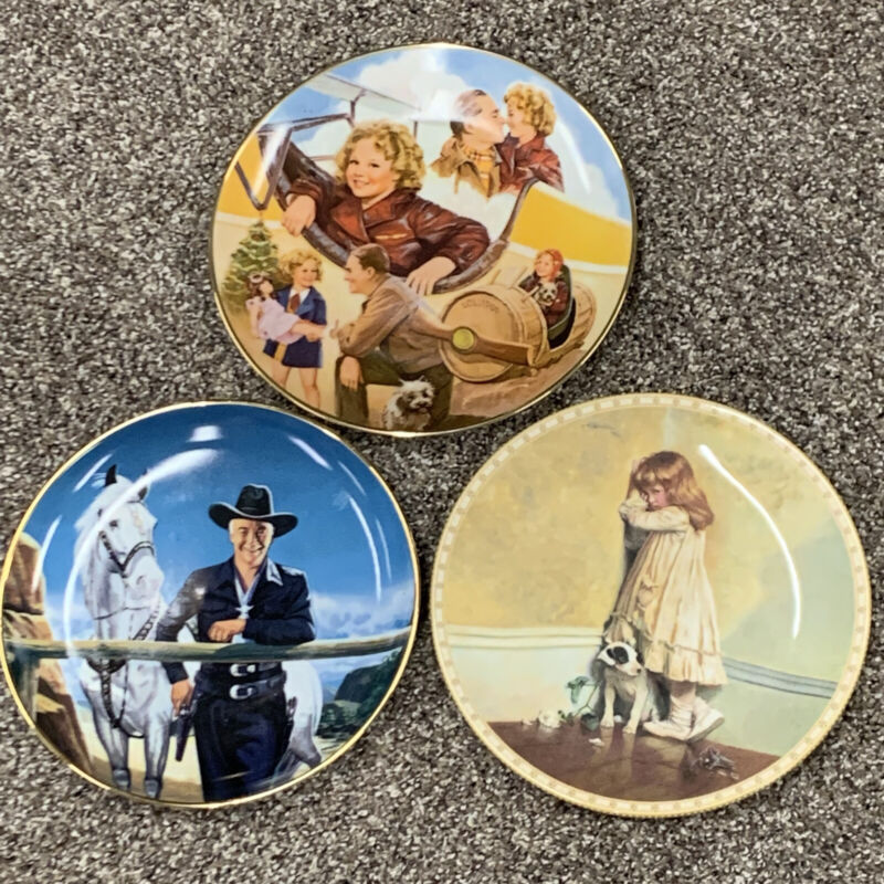 Shirley Temple collector plate Bright Eyes Hopalong Cassidy Victorian Childhood