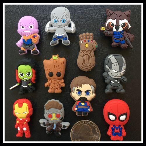 Shoe Charms for Crocs GUARDIANS OF GALAXY Groot Gamora Thanos Gauntlet Superhero