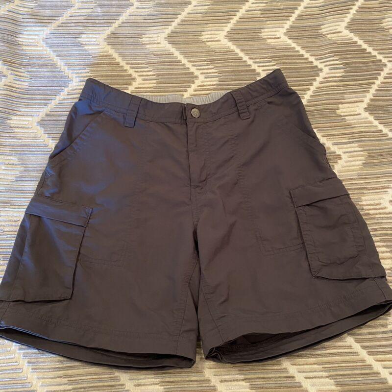 "REI Shorts 7"" Hiking Walking Cargo Brown Size 8 EUC"