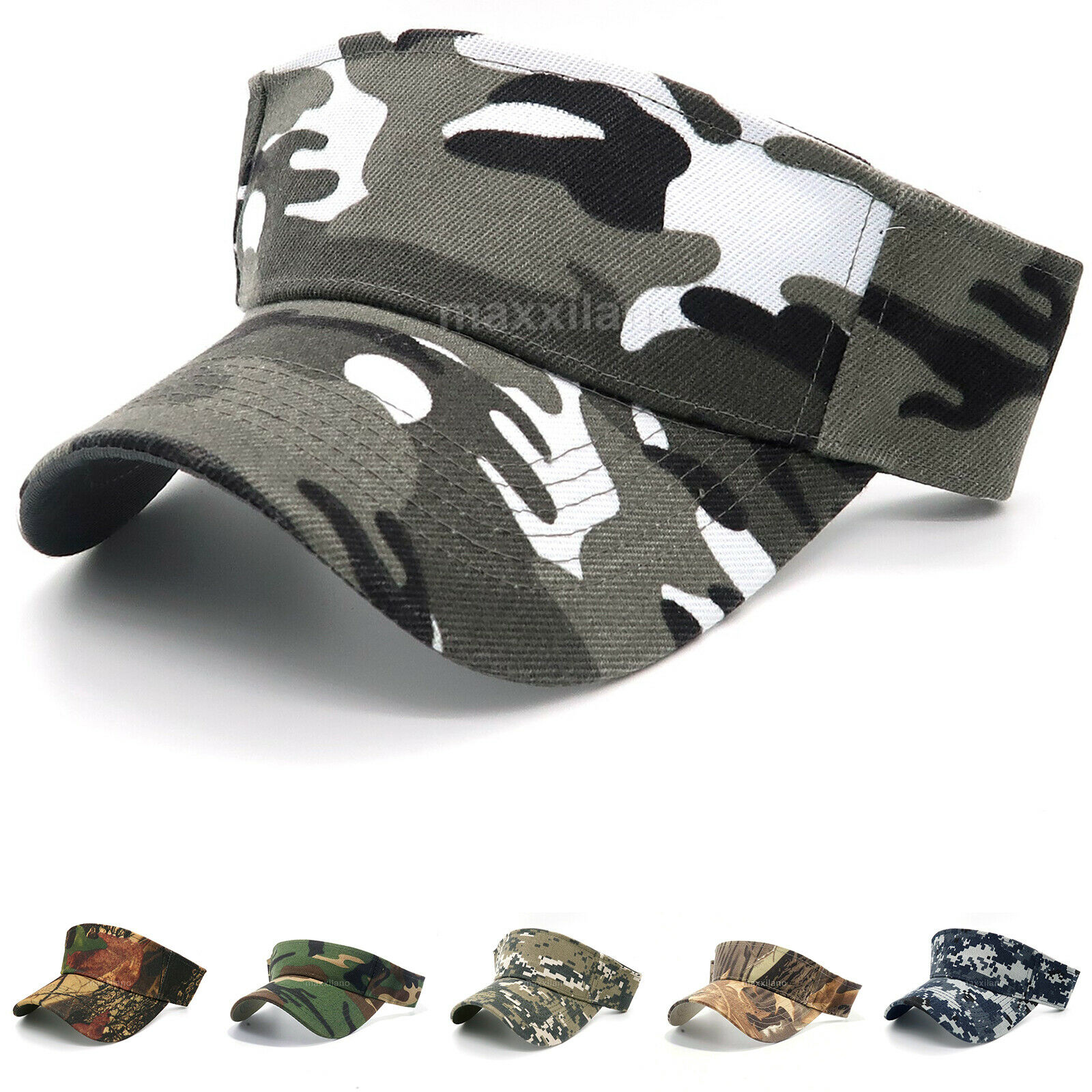 Sun Visor Hat for Men Camouflage Outdoor Hunting Style Cap L