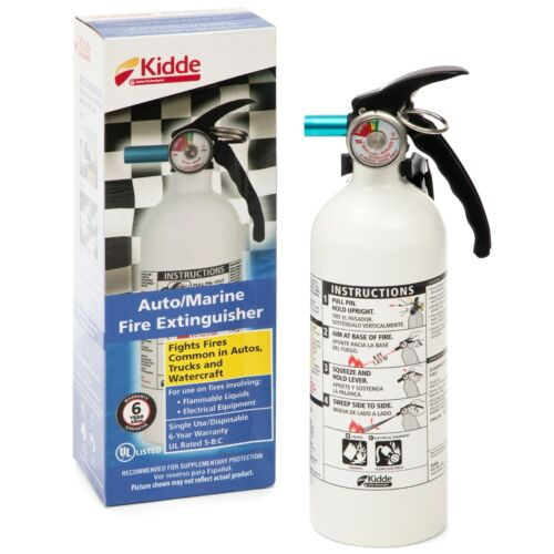 Fire Extinguisher Home Car Office Safety Kidde 5-B:C 3-lb Disposable Marine