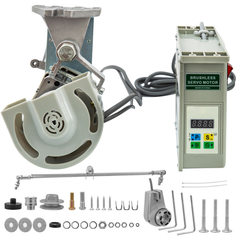 VR-550 Brushless Sewing Machine Servo Motor W/ Needle Positioner 550 Watts