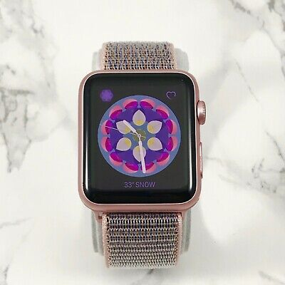 Apple Watch Series 1 42mm Rose Gold Aluminum Case Pink Sand Loop