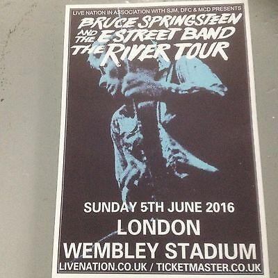 BRUCE SPRINGSTEEN - CONCERT POSTER WEMBLEY STADIUM LONDON SUNDAY 5TH JUNE 2016