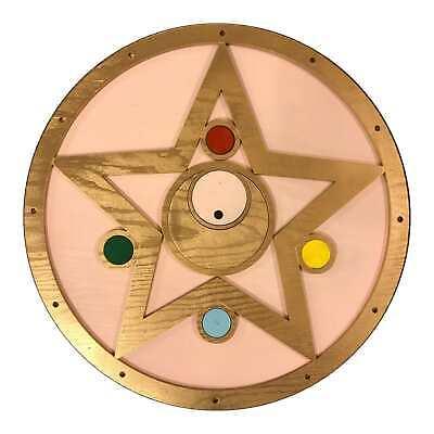 Sailor Moon Brooch Clock | 14 in Diameter |Handmade from Wood | Anime Clock