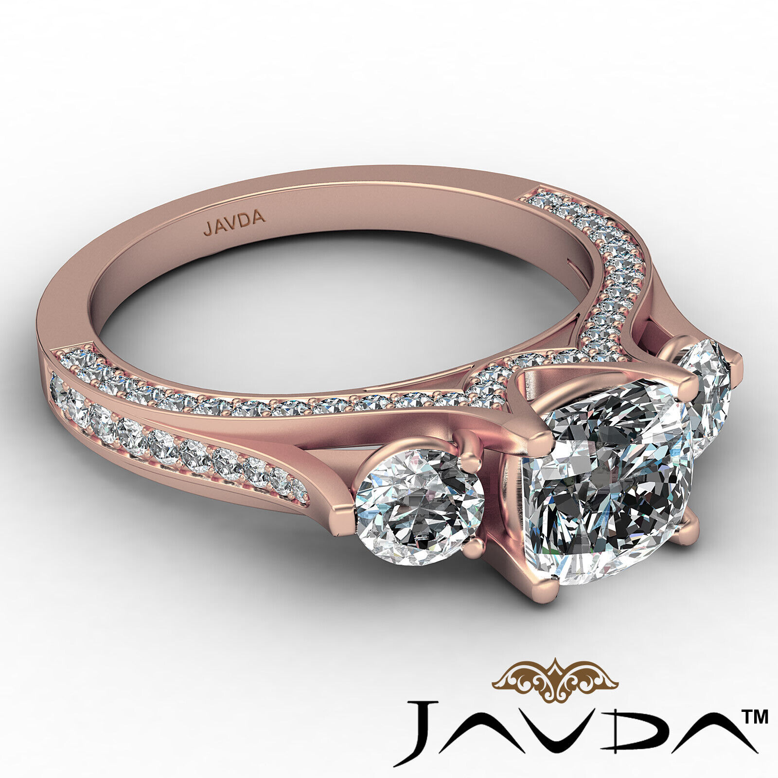 Cushion Diamond Engagement Ring Certified by GIA E Color & VVS1 clarity 2.1 ctw 8