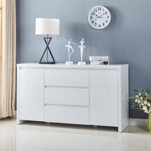 New buffet sideboard cabinet high gloss white or for Gumtree beauty table