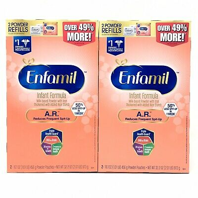 ENFAMIL AR Infant Formula Spit-Up Powder Refill Boxes 4 Pouches 2 Boxes / Packs