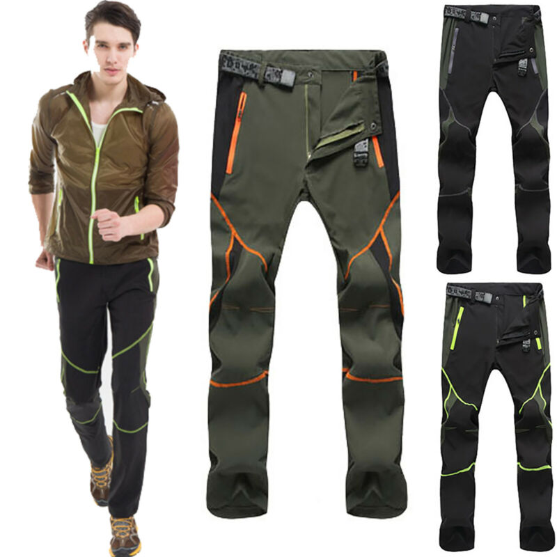 Mens Climbing Mountain Hiking Fit Pants Military Tactical Wo