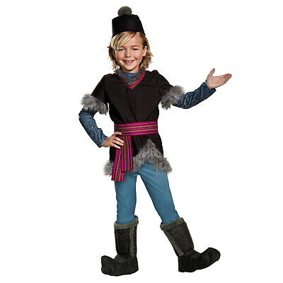 Boys Disney Frozen 2 Deluxe Kristoff Halloween Costume Tunic Belt Hat Child - Frozen Costume Boys