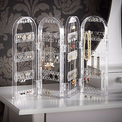 Beautify Acrylic Jewelry Holder Organizer Display Earring, Necklace and - Acrylic Earring Organizer