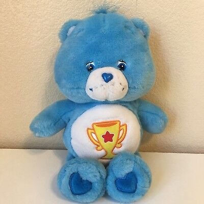 Used, Care Bears Charm Bear Plush 2003 Trophy Blue 10 inch Stuffed Animal for sale  Shipping to Canada