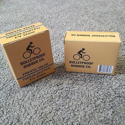 2-Pack 700X20-25 (27X1) 32mm Presta Valve bicycle inner tube w/o boxes * New **  Presta Valve Box