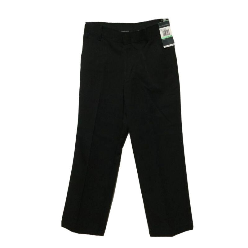 NWT Perry Ellis Portfolio Black Dress Pants Boys 8 Flat Front MSRP $39.50