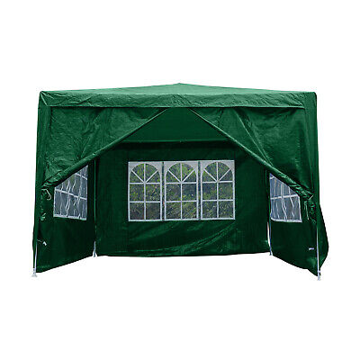 3x3M Gazebo with Sides Waterproof Marquee Canopy Garden Wedding Party Tent Green
