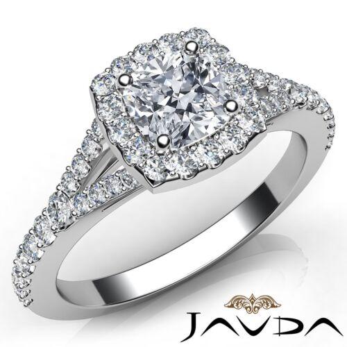 Cushion Diamond Engagement Gia H Color Vs2 18k White Gold