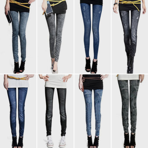Women High Waisted Denim Skinny Jeans Ladies Stretch Pants J