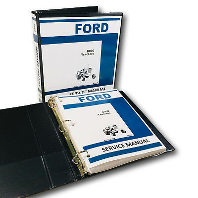 Ford 8000 Tractor Service Repair Shop Manual Technical Overhaul Shop Book