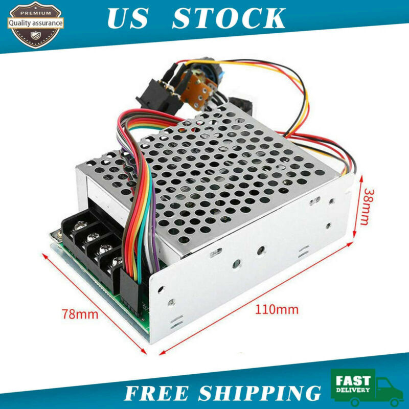 DC10-55V 60A 5000W Reversible DC Motor Speed Controller PWM Control Soft Start