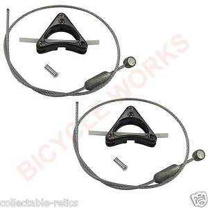Pair Alloy Cantilever Centre Pull Brake Straddle Bridge Cable Hanger Bicycle 488