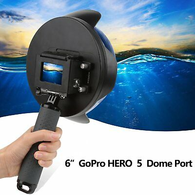 Dome Port Waterproof Housings Case for Gopro Hero 5 6 Session Camera Cam Pro
