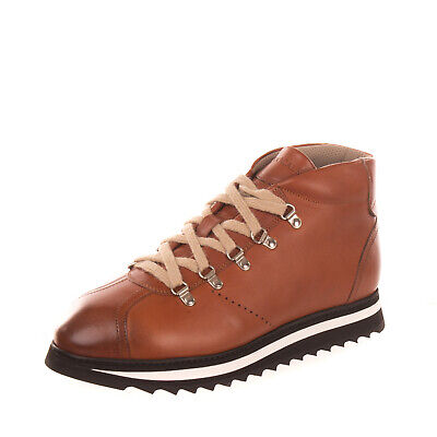 RRP €350 DOUCAL'S Leather Hiking Style Boots EU 43.5 UK 9.5 US 10.5 HANDMADE