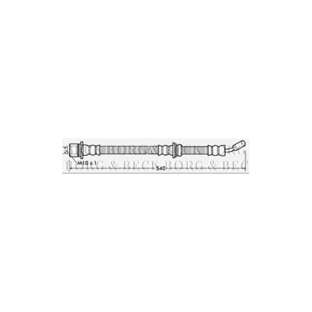 Borg & Beck Front Left Brake Hose Genuine OE Quality Replacement