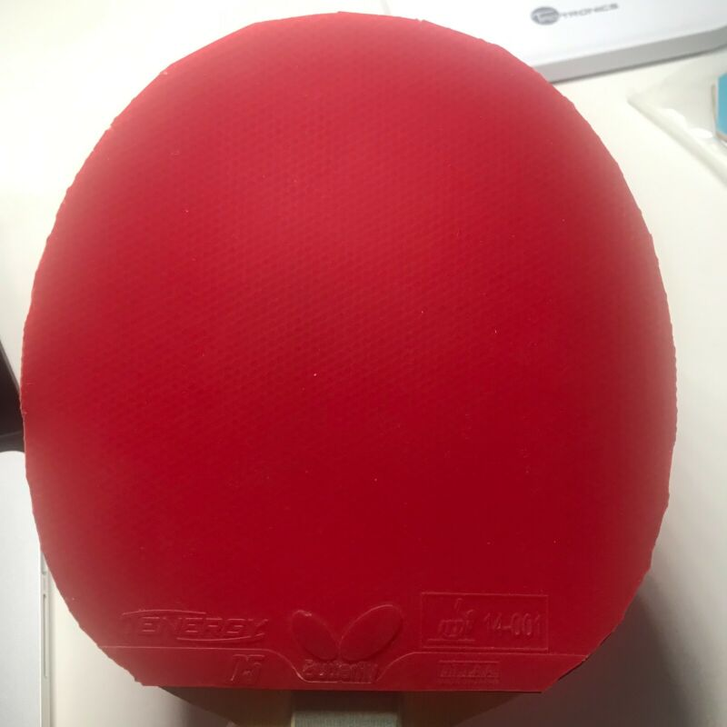 Used Butterfly Tenergy 05 Table Tennis Rubber (Red). Works Great