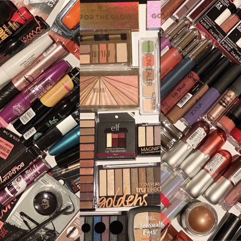 FUN 15 PIECE MIXED BEAUTY BAG Cosmetics Nails Face Eyes Lips $100-$150 Value
