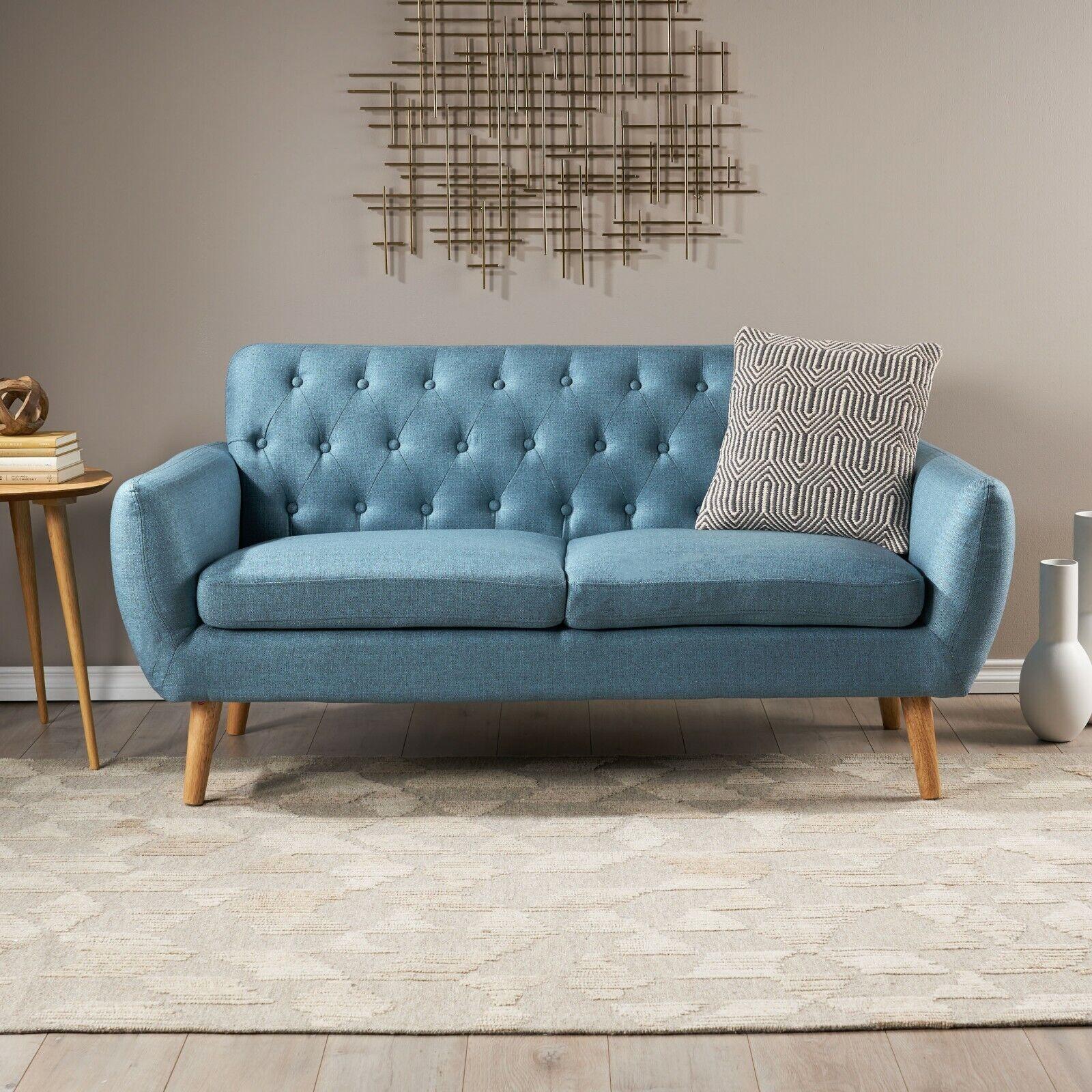 Eunice Petite Mid Century Modern Tufted Fabric Sofa Chairs