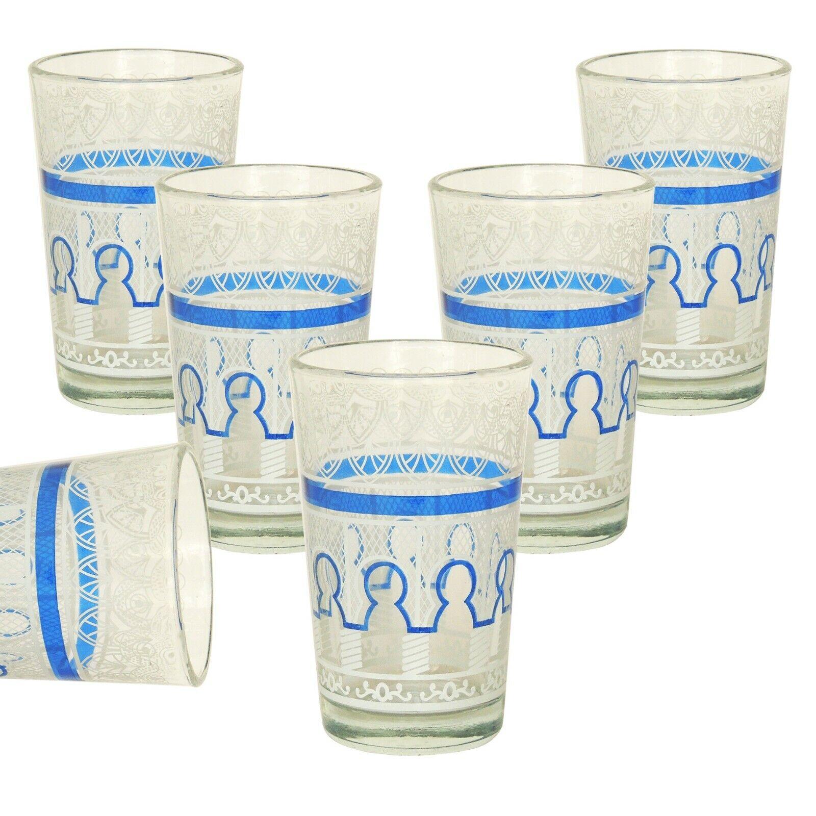6er Set marokkanische teegläser Beldi - Arabische Orientalische Gläser Marokko