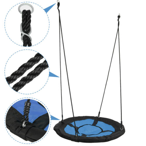 40″Child Kids Outdoor Saucer Tree Swing EZ Assembled Platform 440lbs Max PE Rope Outdoor Toys & Structures