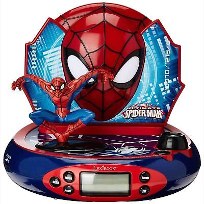 SPIDERMAN RADIO ALARM CLOCK PROJECTOR MARVEL KIDS NEW