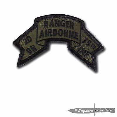 9d0d334a3c87 Hook & Loop - OD Old style US 2nd BN Ranger Scroll - 4