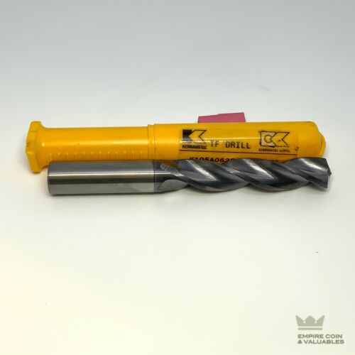 """Kennametal 5/8"""" solid TiAlN-PVD-coated carbide drills K105A06250 KC7210 *W1C1"""
