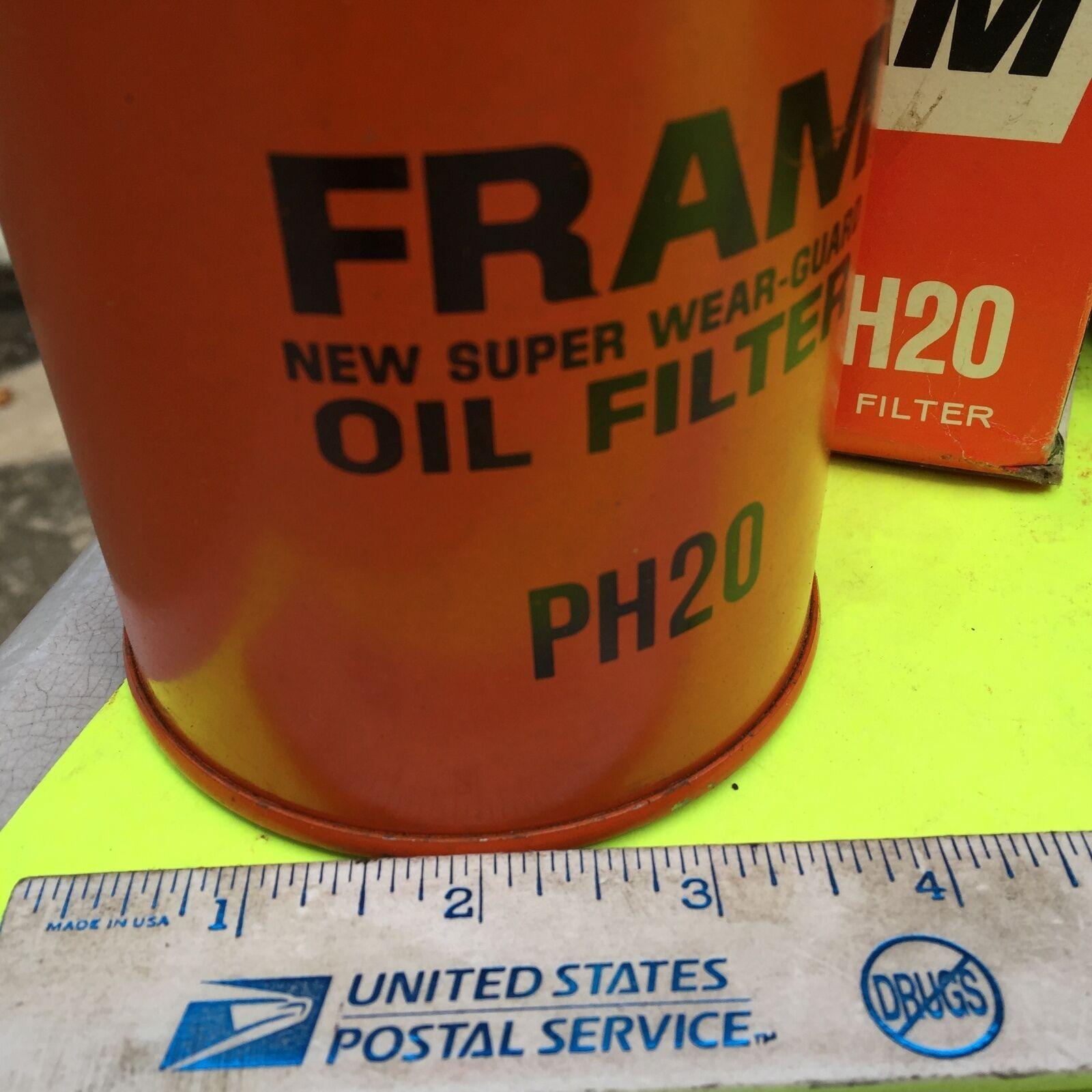 John Deere, and U.S. old cars,  filter.    Fram,   PH 20.       Item:  4656