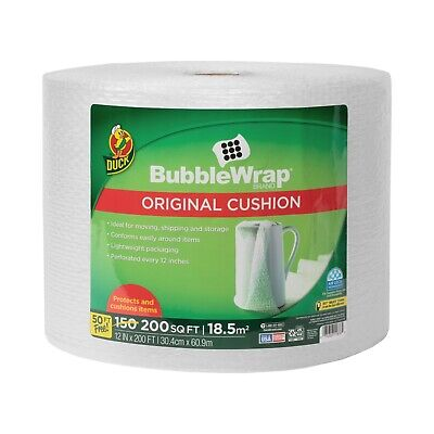 Duck Brand 12 In. X 200 Ft. Clear Original Bubble Wrap Cushioning