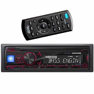 ALPINE CDE-150E SINGLE DIN IN-DASH CAR STEREO CD PLAYER USB AUX BASS EQ