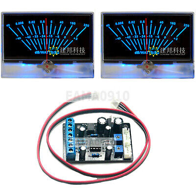 2pcs P-134 Vu Meter Head Db Level Power Amplifier Wbacklight W1pc Driver Board