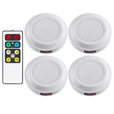 DEWENWILS LED Wireless Puck Light Remote Control Battery Operated HBSL02I  Battery Operated Puck Lights