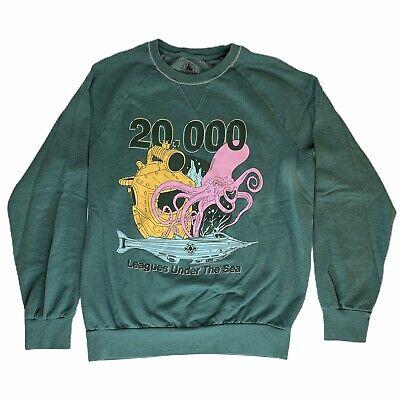 Disney Parks 20,000 Leagues Under The Sea Sz M Crew Sweatshirt Nautilus Squid