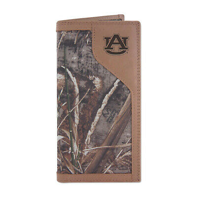ZEP-PRO NCAA University Auburn Tigers REALTREE Camo Leather Embossed Wallet -