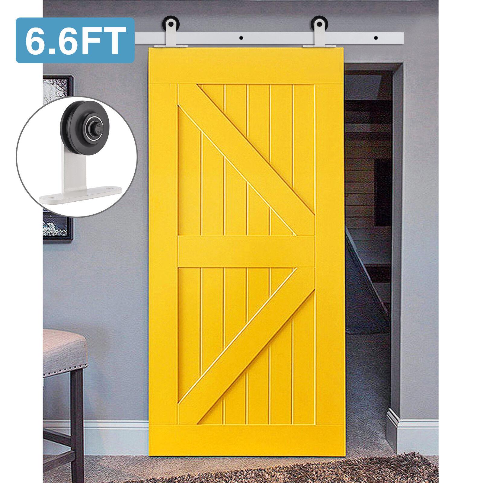2FT-10.8FT Sliding Barn Wood Door Hardware Closet Kit Single/Double/Bypass Doors