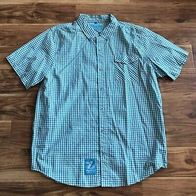 Rare Lifted Research Group Core Collection SS Woven Shirt Teal 2XL EUC (Collection Woven Shirt)