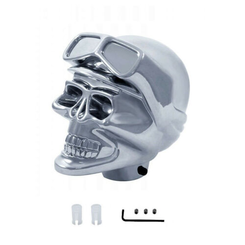Chrome Biker Skull Universal Gear Shift Knob Lever Handle Column Floor Shifter