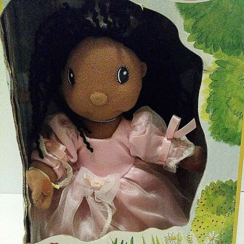 "Zapf Creations 9"" Maggie Raggies Doll African American Pink Dress NIB b5"