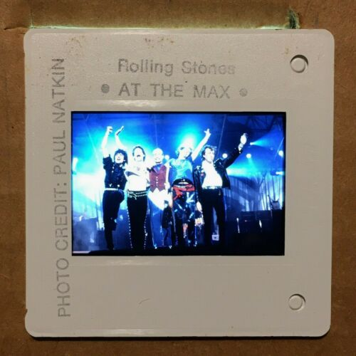 """THE ROLLING STONES : Color 35mm """"PRESS PHOTO"""" Slide @ 80s/90s Classic ROCK"""