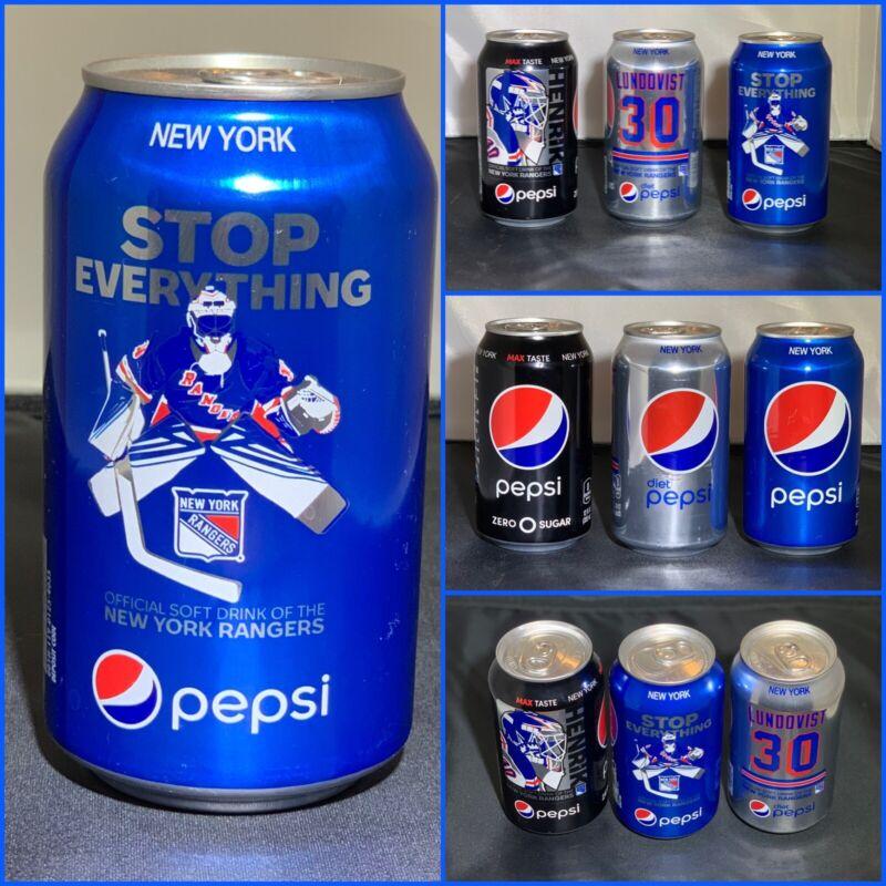 Henrik lundqvist Pepsi Vintage New York Unopened  2019 Cans  Set of ALL 3