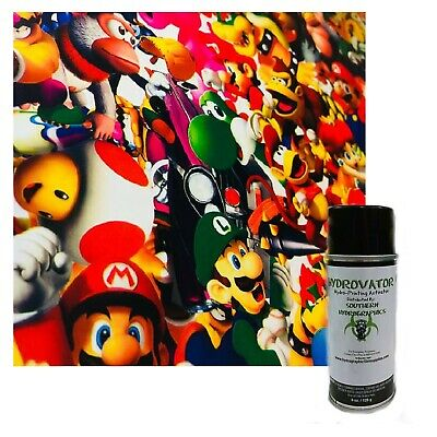 Hydrographic Film Water Transfer Hydro Dipping Dip Activator Mario Bomb Kit
